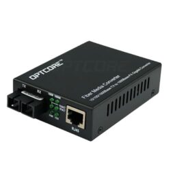 10/100/1000Base-T to 1000Base-EZX Single-mode 100km Fiber Media Converter