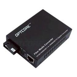 10/100/1000Base-T to 1000Base-BX 20km Single Fiber WDM Media Converter