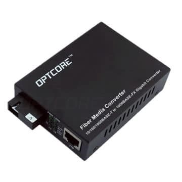 10/100/1000Base-T to 1000Base-BX 80km Single Fiber WDM Media Converter