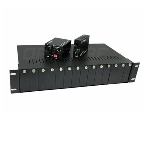 14-Slot Media Converter Rack-mount Chassis