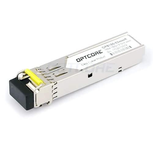 Alcatel-Lucent SFP-100-BXLC-D Compatible 100BASE-BX TX:1550nm/RX:1310nm 20km DDM SFP Transceiver