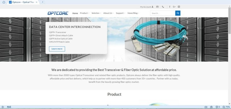 optcore home page